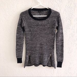 Anthro Kaisely Chunky Knit Zip Detail Sweater XS